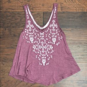 Love on a hanger embroidered tank